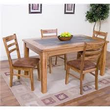 designs sedona table top base: sunny designs sedona  piece slate top dining table set