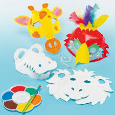 Card Masks To Decorate 60D Card Animal Masks Elephant Giraffe Monkey Crocodile Parrot 23