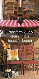 diy furniture refinishing projects. how to make a bench out of 2 repurposed chairs diy furniture refinishing projects