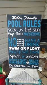 Swimming Pool Decor Signs Swim At Your Own Risk Lifeguard On Beer Break Wood Primitive Sign 93