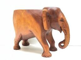 The ottoman is finished with brass studs and. Side Table Decorative Elephant Solid Wood Hand Carved In Bali Indonesia Ebay