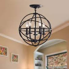 orb light fixture. Carbon Loft Bidwell Antique Black 5-light Iron Orb Flush Mount Light Fixture C
