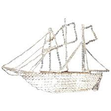 crystal boat chandelier chandeliers crystal ship chandelier late c french at for antique home improvement cast wilson