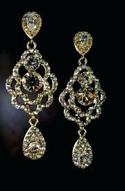 rhinestone chandelier earrings gold chandelier earrings bridal jewelry long rhinestone earrings prom pageant jewelry sparkling beauties