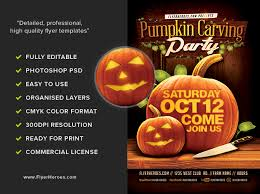 Pumpkin Carving Contest Flyers Fall Pumpkin Carving Flyer Template Flyerheroes