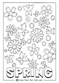 Free Coloring Sheets For Spring Free Coloring Pages Theme Spring For