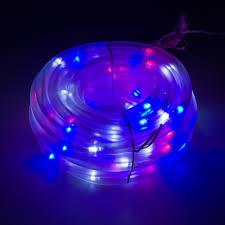 christmas rope lighting. Solar Powered Integrated LED Red/White/Blue Christmas Rope Lighting E