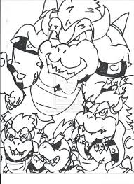 Bowser Coloring Pages Free At Getdrawingscom Free For Personal