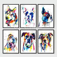 shepherd print dog art decor drawing hipster watercolor paintings dogs animals home decoration d diy diamond font b