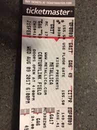 Metallica Seattle Seating Chart Tickets 2 Metallica Avenged Sevenfold Gojira Tickets