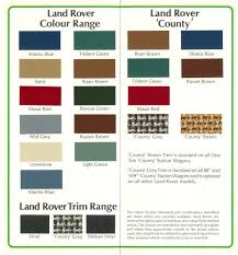 Series 2 2a Colors Archive Australian Land Rover Owners