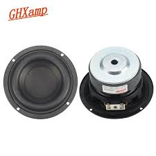 2 Pcs Round Subwoofer Speaker 4 Inch 40W Woofer Kertas Kapas Bass Buatan  2.1 Subwoofer Unit PC Mobil Louspeakers DIY 116 Mm|Subwoofer