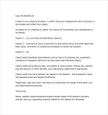 Letters Of Dismissal Sample Letter From Work Appeal For Job