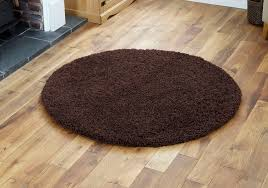 chocolate brown 133cm large modern rug thick 5cm pile circle round gy rugs