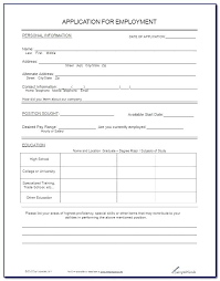 Employee Application Form Word Job Application Form Template Free Templates Of Forms Sample