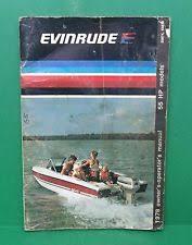original evinrude hp outboard motor owners operators original 1978 evinrude 55 hp outboard motor owners operators manual 55874 55875