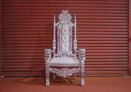 2 x new silver leaf lion king queen throne chair wedding luxury hand made french italian