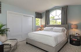 Sliding Closet Door Bedroom Contemporary With Arch Window Carpeting Chair.  Image By: Deborah Freedman Design