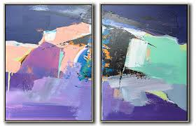 canvas extra large wall art purple