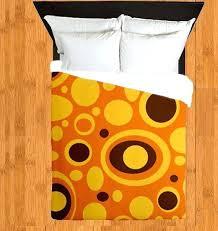 yellow and brown duvet covers modern duvet cover funky duvet cover retro duvet cover orange duvet