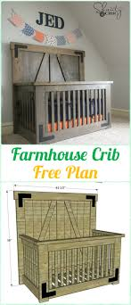 diy baby furniture. Delighful Diy DIY Farmhouse Crib Instruction  Baby Projects Free Plans To Diy Furniture