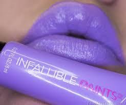 paris infallible paints lipcolor