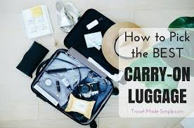 How to Pick Carry-On Size Luggage - what to look for to choose the