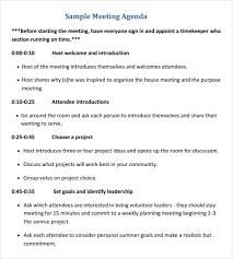 Ministry Meeting Agenda Template Sample Meeting Itinerary Template