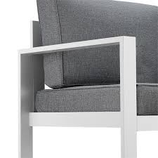real flame baltic patio sofa in gray and white