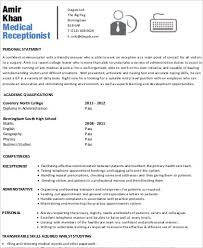Sample Medical Receptionist Resumes Receptionist Resume Sample 8 Examples In Word Pdf