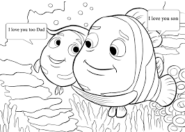 Pin By Lilly On Fathers Day 3 Nemo Coloring Pages Finding Nemo
