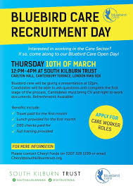 bluebird care recruitment open day th bluebird see flyer below for all the infomation