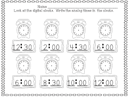 Time-to-the-half-hour-worksheets &