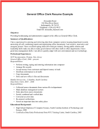 Office Resume Office Clerk