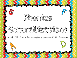 Phonics Generalizations Chart Primary Junction Phonics Generalizations