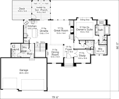 craftsman floor plans. Craftsman House Plan First Floor - 091D-0482   Plans And More A