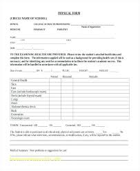 Free Printable School Forms Best Printable Sports Physical Form Awesome Best Release Free Template