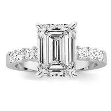 Emerald Cut Diamond Price Chart Houston Diamond District 1 2 Carat Classic Prong Set Emerald Cut Diamond Engagement Ring J Color Vs1 Clarity Center Stones