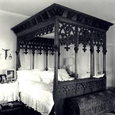Magnificent ornately carved Gothic bed, with its gothic arches and pierced  quatrefoils.this bed is a fine example of the Victorian Gothic style.