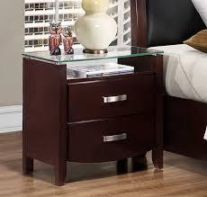 glass top nightstand. Unique Glass Homelegance Lyric Night Stand  Glass Top Dark Espresso For Nightstand H