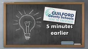 new 5 minute early schedule starts thursday for guilford co s wfmynews2