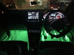 Ford Focus 2019 Ambient Lighting Mk8 Fiesta Footwell Upgrade Car Enhancements Uk