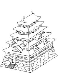 日本の城 ぬりえ