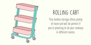 rolling cart 13 fun diy makeup organizer ideas for proper storage