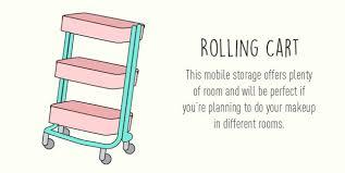 rolling cart 13 fun diy makeup organizer ideas for proper storage