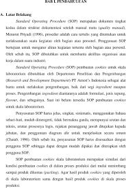 Skripsi Menyusun Standard Operating Procedure Sop Pembuatan