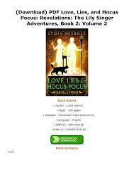 pdf love lies and hocus pocus revelations the lily singer adventures book 2 volume 2 pages 1 1 text version fliphtml5