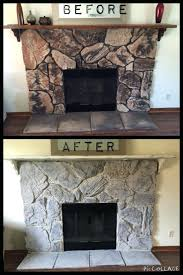 gallery pictures for stone fireplace makeover painted hearth cleaning