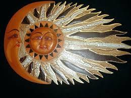 metal sun wall art outdoor outdoor metal wall art sun sunburst celestial sun and moon wall