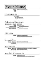 Unusual Design Ideas Word Format Resume 1 Free Resume Template For